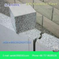 Buy cheap Fireproof wall insulation materials prefab concrete houses eps sandwich wall panel from Wholesalers