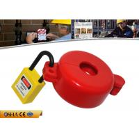Buy cheap ABS Material Red Gas Cylinder Tank Lock Out  Use for Valve Stem Hole 32MM from Wholesalers
