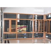 China Yellow Brown Aluminium Frame Glass Window And Doors Air Proof Flush Design factory