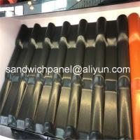 China 960mm dark color luxury ASA glazed roof tile with 2.8mm for residential area factory