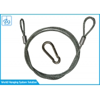 China Galvanized Steel Wire Rope Cable With Loops For Stage Spotlight With Stand factory