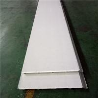 China waterproof ivory white eps sandwich roof panel 840-30-0.426mm wih 0.5mm PVC down factory