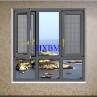 China Thermal Insulation French aluminum Casement Windows With Grill Water Resistance on sale
