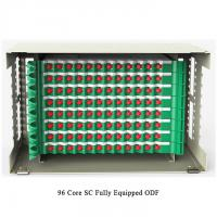 Buy cheap 96 Cores Optical Fiber Distribution Frame Pre Assembled Rack Mounted ODF from Wholesalers