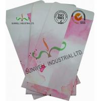 Buy cheap Normal Finising Ordinary Paper Custom Printed Envelopes 4 Colors Peach Flowers from Wholesalers