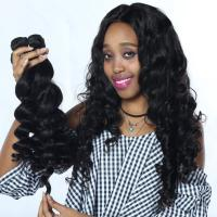 Buy cheap Human Hair Extension Real Human Hair Loose Wave Bundle 1B from wholesalers