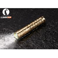 Buy cheap Waterproof Everyday Carry Flashlight Brass Material Good Heat Dissipation from Wholesalers