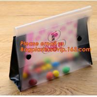 China Office school filing supplies A4 plastic portable document file bag /envelope pocket file folder with button factory