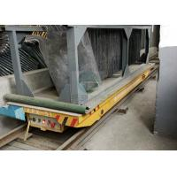 Buy cheap 50 t rectangular electric mold transport bogie steel tubing transfer trolley on railway from Wholesalers