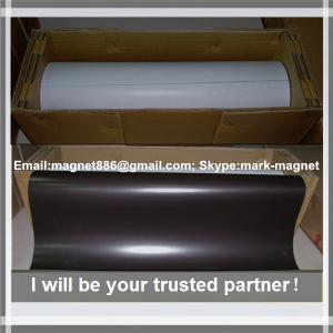 Buy cheap Magnetic sheet; Flexible rubber magnet roll Магнитный винил 0,4мм с клеевым слоем (0,62м х 30,5м) from Wholesalers