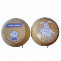 China Wooden Yoyos, Measuring 5.5 x 2.5cm, Customized Logos and Colors are Accepted factory