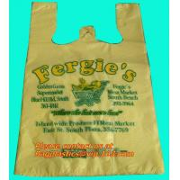 China Cheap vest carrier poly plastic bag, t-shirt bag made in China print 7 colors 2 sides factory
