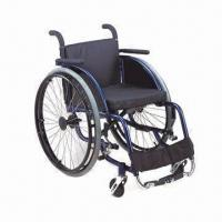 China Sports Wheelchair with Leisure, 66cm Length, 36mm Width and 61mm Height factory