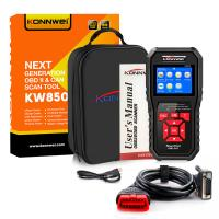 Buy cheap Digital Portable Barcode Reader / Obd2 And Can Scan Tool With Abs KONNWEI KW850 from Wholesalers