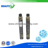 Buy cheap Aluminium Tubes  for  Hair Color cream with Black color printing surface 32mm Dia. 100ml volume from Wholesalers