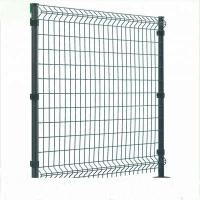China Triangle Bending Welded Wire Fence , Square Shape Curved Steel Mesh Fencing on sale