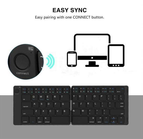 2018 new products mini portable folding bluetooth keyboard for ipad pro