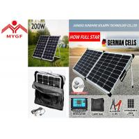 China Portable Folding Solar Panels Black Frame Suitcase With Stable Aluminum Stand on sale