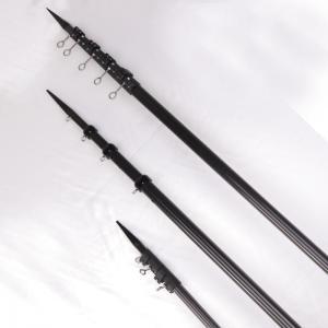 China Short Lead 18ft High Rigidity Carbon Fiber Poles / Black Carbon Fiber Outriggers factory