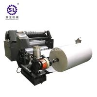 China Surface Rewind Small Roll Slitter Rewinder PLC Control for Paper Straw factory