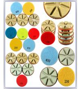 China Diamond Polishing Pads Dry Use For Hard Concrete C40+(40 mpa.) and Terrazzo factory