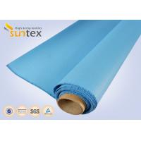 China 0.8 Mm Or OEM Blue Fire / Heat Resistant Fiberglass Cloth To Europe 1000 G/Sqm factory
