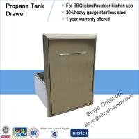 Buy cheap BBQ island component built-in stainless propane/trash tank drawer from Wholesalers