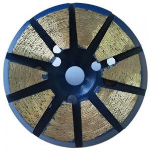 "China 3"" inch 10 segment round shape diamond metal bond pucks factory"