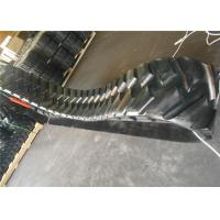 China Black Color Paver Rubber Tracks Customized Size With Less Vibration factory