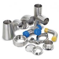 China Dairy Welding Tri Clamp Stainless Steel Sanitary Pipe Fittings Corrosion Resistance on sale