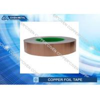 "China 1"" x 55 yds - 1 Mil Copper Foil Shielding Tape , self adhesive copper foil sheets factory"