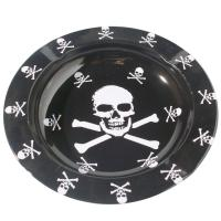Buy cheap Printed Round Black Metal Tin Plate Serving Tray For Food / Water from Wholesalers