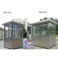 Buy cheap Stainless Steel Frame sentry box shed / Prefab Security Guard Booths Movable from Wholesalers