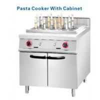 Buy cheap Stainless steel Gas Deep Fryer with cabinets 2 pasta Basket from Wholesalers