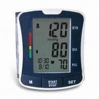 China Digital Blood Pressure Monitor with Fully Automatic and Wrist Type, Convenient for Travel factory