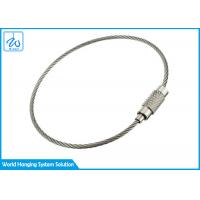China Wire Ring Tag Cable Loop Key Ring , Luggage / Clothing Tag Wire Rope Key Ring factory