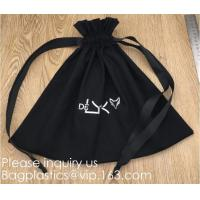 China 100% Cotton Canvas Favor Bag Pouch with Drawstring,Cotton Breathable Dust-Proof Drawstring Storage Pouch Multi-Functiona factory