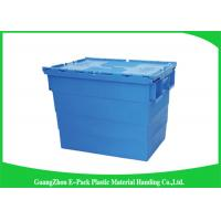 Buy cheap Durable Plastic Attached Lid Containers / Heavy Duty Plastic Storage Boxes from Wholesalers
