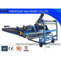 China 3 - 4mm Steel Forming Machine Steel Culvert with Gearbox Driven factory
