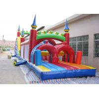 China Funny Sport Games Adult Inflatable Obstacle Course Challenge Bounce House factory
