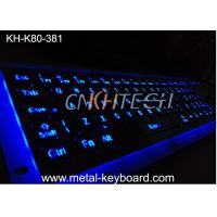 Quality Illuminant waterproof SS Industrial Metal Keyboard with Trackball  pointing device wholesale