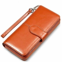 China Credit Card PU 19*9.5*3CM Personalized Zipper Wallet factory