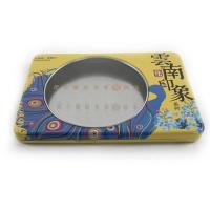 China Custom printed window tea tin box factory