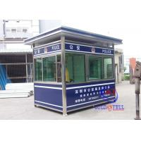 Buy cheap Color Steel Prafab Mobile Sentry Box For Police Working Desk , Electricity , Light from Wholesalers