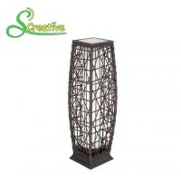 Buy cheap Waterproof Rattan Outdoor Solar Lights , Tall Wicker Solar Floor Lamp With Battery from Wholesalers