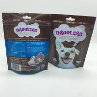 Customized Dog Food Stand Up Zipper Bags With Clear Window PET / PE Material