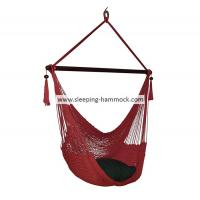 Buy cheap Red Folding Jumbo Deluxe Hanging Hammock Rope Chair For Two Outside Indoor Outdoor from Wholesalers