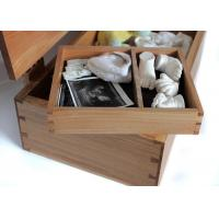 Buy cheap Natural Color Bamboo Gift Box , Bamboo wood Handmade Gift Box With Hinged Lid from Wholesalers