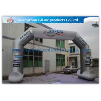 China 8 x 5m Grey Custom Inflatable Arch Full Color Printing for Sporting Events factory