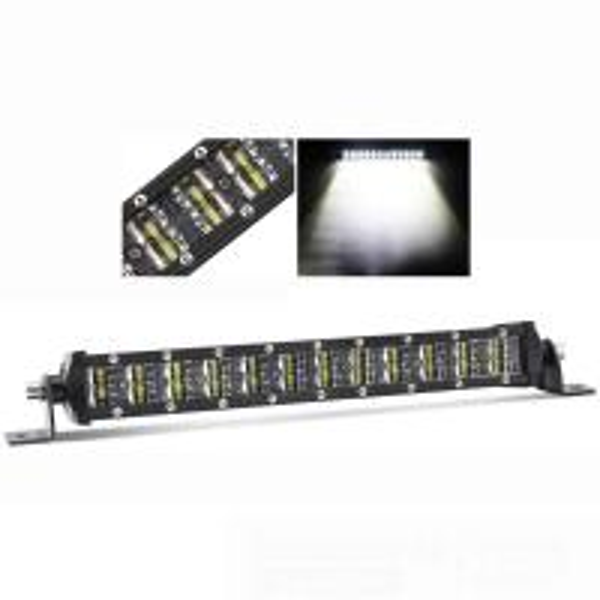 Quality Jeep Dual Row Led Light Bar , Led Forklift Lights 8 Degree Spot Beam for sale